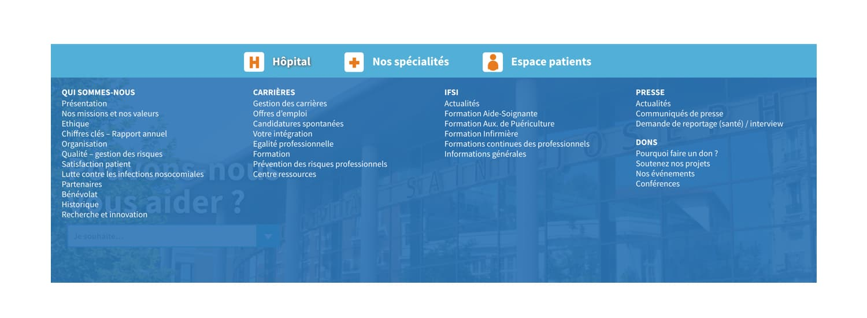 Site internet - Groupe Hospitalier Saint Joseph 3