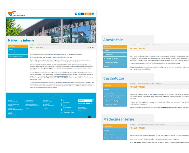 Site internet - Groupe Hospitalier Saint Joseph 5