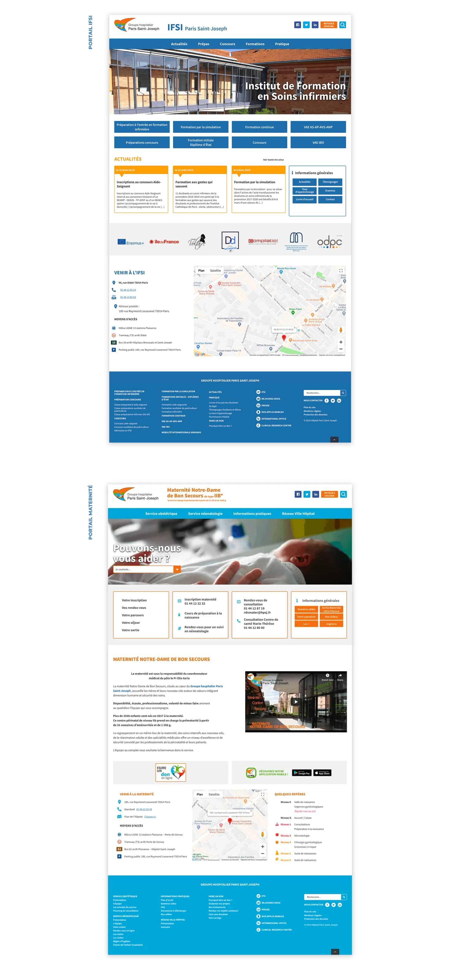 Site internet - Groupe Hospitalier Saint Joseph 4